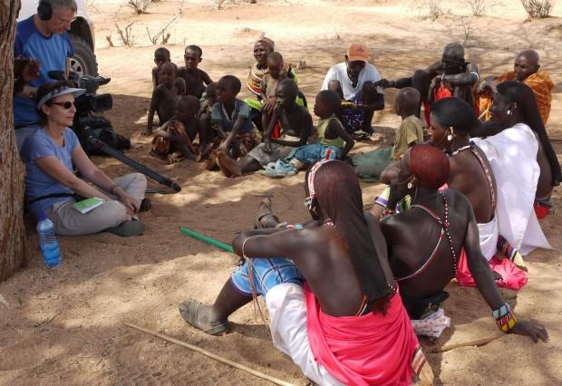 Dreharbeiten  junge Krieger Kenia